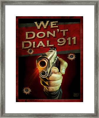 Dial 911 Framed Print by JQ Licensing