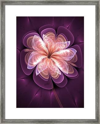 Diamond Dahlia Framed Print