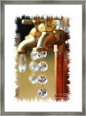 Diamond Drops Framed Print by Lori Mellen-Pagliaro