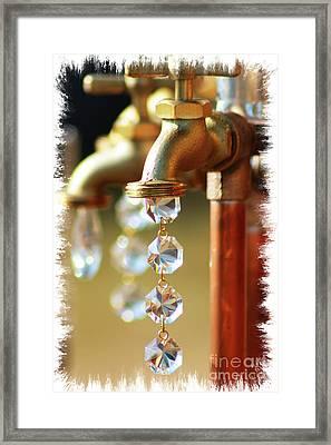 Diamond Drops Framed Print