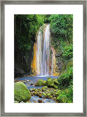 Diamond Falls- St Lucia Framed Print