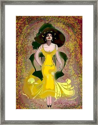 Diamond In The Ruff Framed Print by Charles Shoup