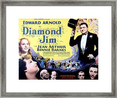 Diamond Jim, Edward Arnold, Jean Framed Print