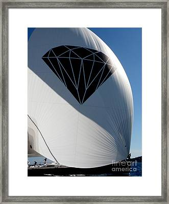 Diamond On The Sea Framed Print by Lainie Wrightson