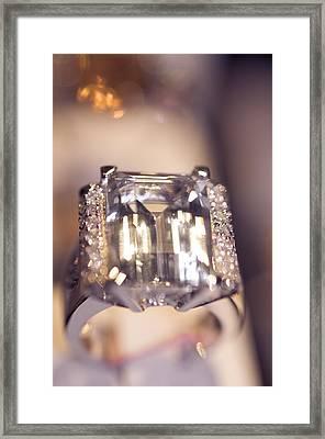 Diamond Ring. Spirit Of Treasure Framed Print by Jenny Rainbow