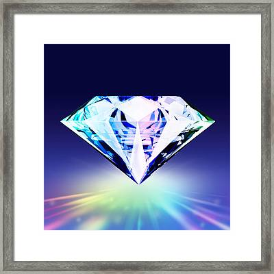Diamond Framed Print by Setsiri Silapasuwanchai