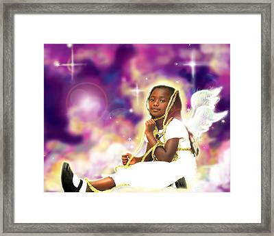Diamond.angelic 2 Framed Print by Nada Meeks