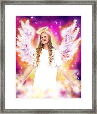 Diamond.angelic 4 Framed Print