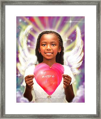 Diamond.angelic  Framed Print by Nada Meeks