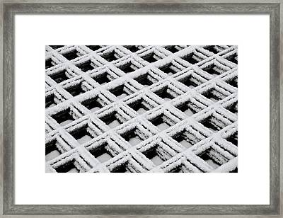 Diamonds In The Snow Framed Print by Odd Jeppesen