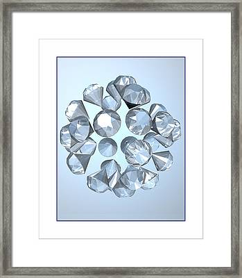 Framed Print featuring the digital art Diamonds... by Tim Fillingim