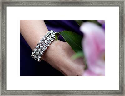 Diamonte Bracelet Framed Print