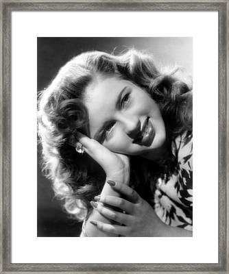 Diana Dors, Ca. 1949 Framed Print by Everett