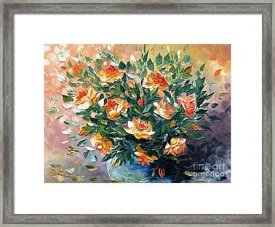 Diana S Roses Framed Print