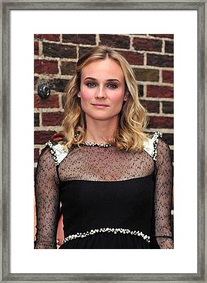 Diane Kruger Wearing A Chanel Dress Framed Print by Everett