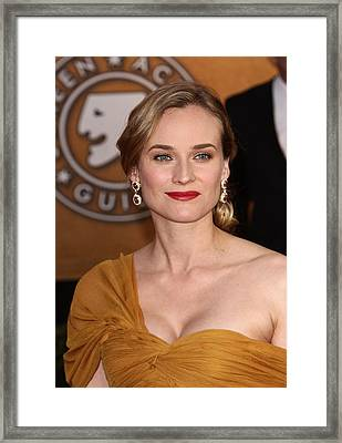 Diane Kruger Wearing Harry Winston Framed Print by Everett