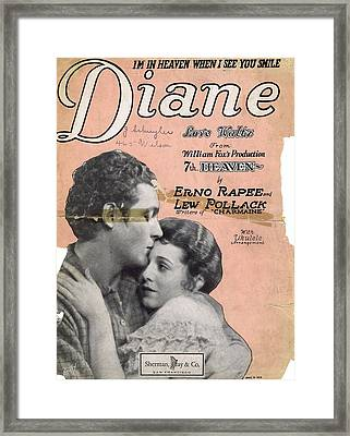 Diane Framed Print by Mel Thompson