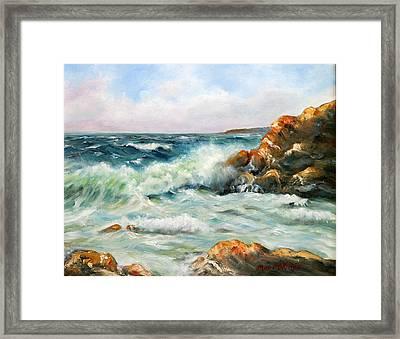 Diane's Cove Framed Print by Max Mckenzie