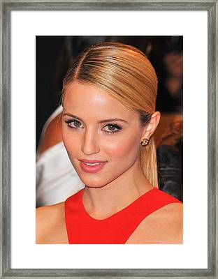 Dianna Agron At Arrivals For Alexander Framed Print by Everett