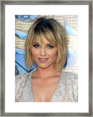 Dianna Agron At Arrivals For Glee The Framed Print