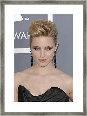 Dianna Agron At Arrivals For The 53rd Framed Print