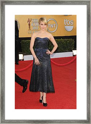 Dianna Agron Wearing A Chanel Dress Framed Print by Everett