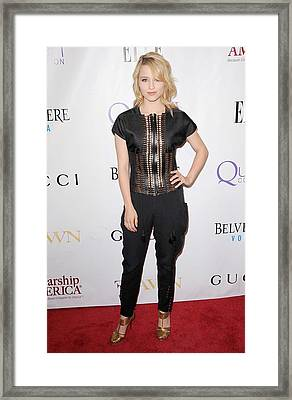 Dianna Agron Wearing Gucci Framed Print