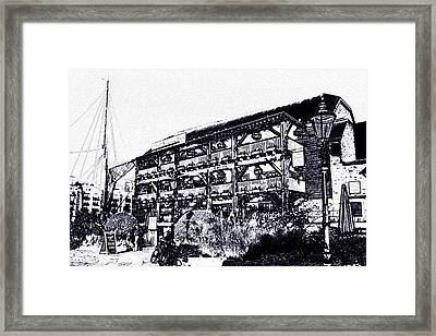 Dickens Inn Pub St Katherines Dock London Framed Print