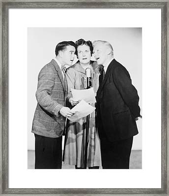 Dickie Jones B.1927 At Left, And Other Framed Print by Everett