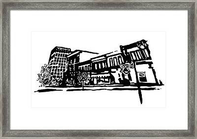 Dickson Street In Fayetteville Ar Framed Print by Amanda  Sanford