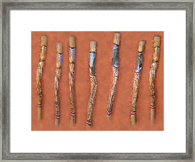 Didgeridoo Framed Print by Janice T Keller-Kimball