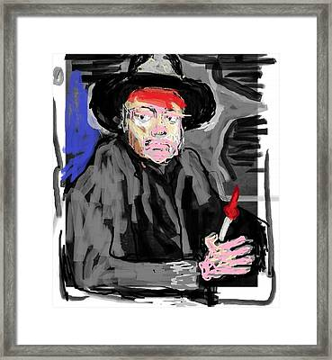 Diego R Painting Himself Framed Print by Jay Manne-Crusoe