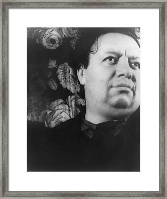 Diego Rivera 1886-1957, Mexican Painter Framed Print