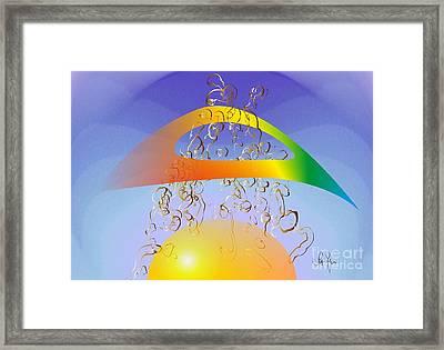 Framed Print featuring the digital art Dieu Et Mon Droit  by Leo Symon