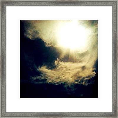 Different Edit #scenery #nature #sky Framed Print