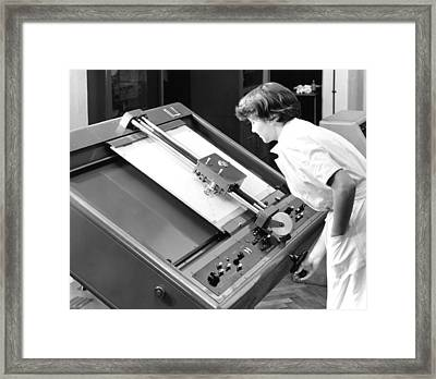 Differential Analyser, 1954 Framed Print by National Physical Laboratory (c) Crown Copyright