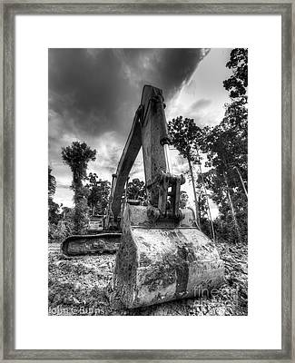 Framed Print featuring the photograph Digging The Rainforest by John Burns