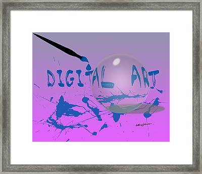 Digital Art Framed Print by Anthony Caruso