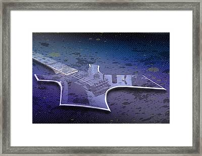 Digital-art E-guitar I Framed Print by Melanie Viola