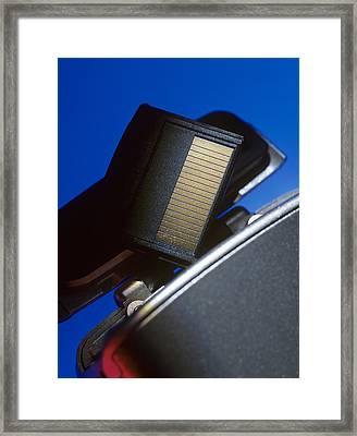 Digital Camera And Memory Card Framed Print by Steve Horrell