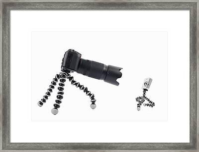 Digital Camera Comparison Framed Print by Sami Sarkis