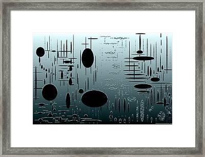 Digital Dimension In Aquamarine Series Image 1 Framed Print