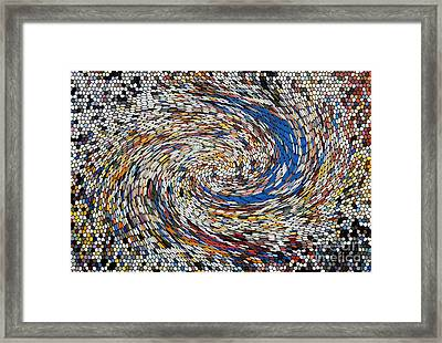 Digital Directional Chaos Framed Print by Robert Haigh