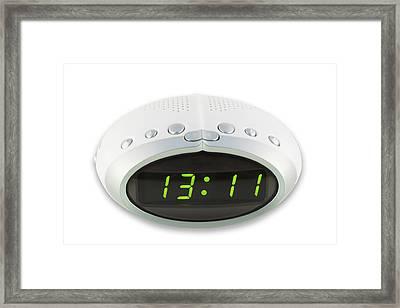 Framed Print featuring the photograph Digital Electronic Clock by Aleksandr Volkov