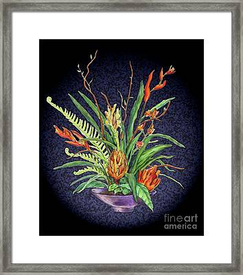 Digital Flowers Framed Print