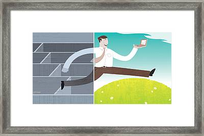 Digital Illustration Framed Print