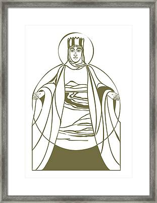 Digital Illustration Of Armaiti With Body Depicted As The Earth Framed Print