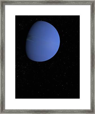 Digital Illustration Of Neptune Framed Print by Jason Reed