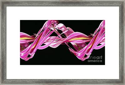 Digital Streak Image Of An Orchid Framed Print by Ted Kinsman