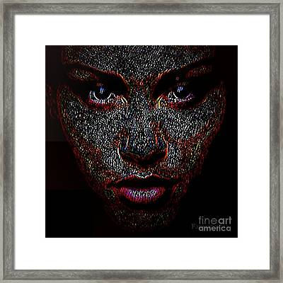 Digital Woman Inspired By A Real God Framed Print by Fania Simon